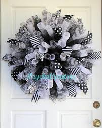 white deco mesh best black and white deco mesh wreaths products on wanelo