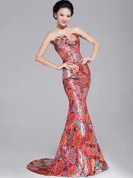 wedding evening dress fishtail cheongsam qipao wedding evening dress