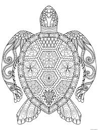 zentangle zen turtle coloring pages printable