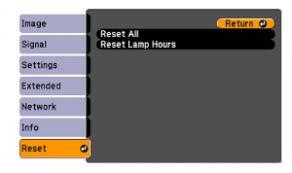 reset l timer panasonic projector epson powerlite 470 projector l