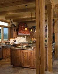 kitchen island with posts timber frame home post and beam rustic kitchen island with granite