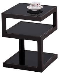 modern black end table wonderful black accent table qu ii accent table in black modern side
