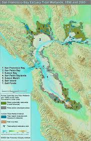 San Francisco Bay Map by Two Western Draining Estuaries San Francisco And Tampa Bays