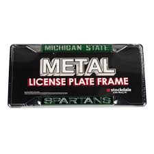 msu alumni license plate frame michigan state spartans auto accessories msu car mats cus den