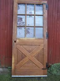 9 Lite Exterior Door Exterior Solid Wood Entry Door Cross Buck Barn Door Style 9 Lite
