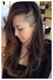 long choppy haircuts with side shaved long hair sidecut 1000 images about side shave on pinterest undercut