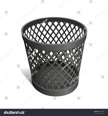waste paper baskets wastepaper basket black stock vector 59448961 shutterstock