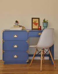 Campaign Desk Vintage Campaign Desk Blue Trevi Vintage Design