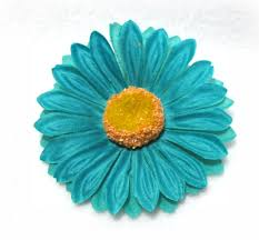 turquoise flowers inch turquoise teal blue hair flower clip