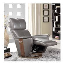 Electric Recliner Armchair Halifax Electric Recliner Chair In Grey Leather And Walnut