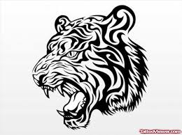 cool black ink tribal tiger design viewer com