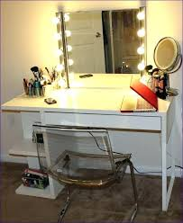 Small Makeup Desk Desk Table For Bedroom Vanity Table With Lights Around Mirror