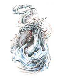 tattoo dragon water dragon emerging from water tattoo free design ideas dr flash