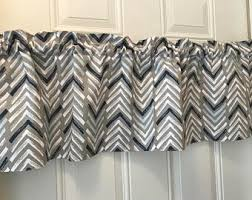 Gray And White Chevron Curtains Grey Chevron Valance Etsy