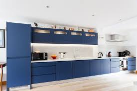 blue modern kitchen cabinets best kitchens in classic blue try out the trendiest color
