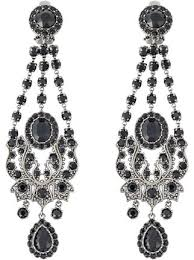 clip on chandelier earrings givenchy chandelier clip on earrings farfetch