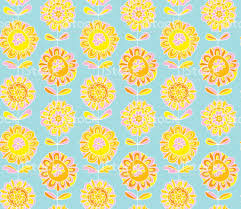 60 S Design Concept Decorative Marigold Flower 60s Style Background Vector
