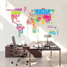 venta al por mayor wall stickers mapa negro del mundo vinilo wall