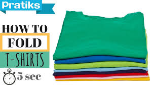 T Shirt Organizer How To Fold A T Shirt In 5 Seconds Youtube