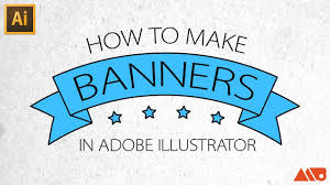 adobe illustrator tutorial how to make banners ribbons