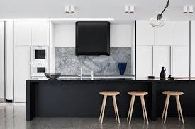 Kitchen Cabinet Downlights Kitchen Luxurious Monochromatic Marble Kitchen Features Bench In