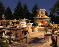kitchen traditional outdoor kitchen design with high brick