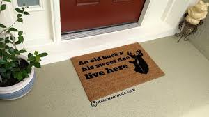 Funny Doormat by Online Store An Old Buck U0026 His Sweet Doe Live Here Coir Funny