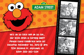 Birthday Invitation Card Maker Elmo 1st Birthday Invitations U2013 Bagvania Free Printable Invitation