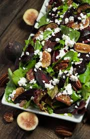 Salad Main Dish - beet salad with feta and figs feasting not fasting