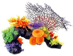 aqua one coral reef with ferns 41cm aquarium decor
