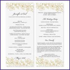 wedding programs template free free downloadable wedding program template that can be printed