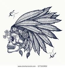 vector images illustrations and cliparts indian skull tattoo art