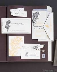 the etiquette of wedding invitation enclosures martha stewart