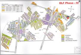 Gurgaon India Map by Dlf City Phase 1 5 Gurgaon Maps Whatsupgurgaon In