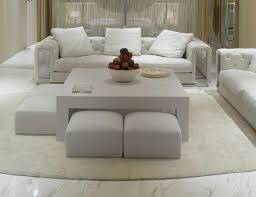 Contemporary White Coffee Table by Coffee Table Brilliant Upholstered Ottoman Coffee Table Design