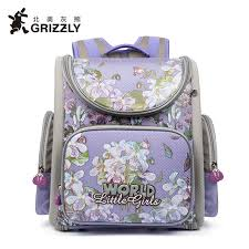 kindergarten backpack pattern grizzly kid backpack escolar school bags for girls primary bookbag