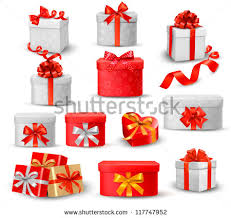 boxes with bows set colorful gift boxes bows ribbons stock vector 117747952