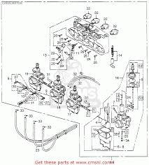 honda cb750 four k5 1975 usa carburetor schematic partsfiche