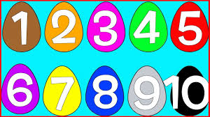 learn numbers and colors with egg coloring pages for children