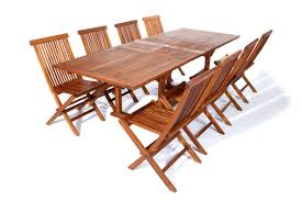 Patio Table And Chair Sets Atc Te90 22 9pc Teak Rectangle Dining Set