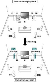 home theater speaker layout speaker configuration and u201camp assign u201d settings sr7010