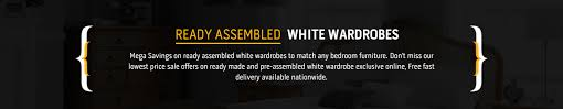 Ready Assembled White Wardrobe Fully Assembled White Wardrobes - Ready assembled white bedroom furniture