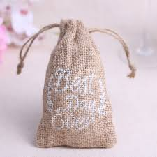 burlap wedding favor bags rustic burlap wedding favor bags printed with best day