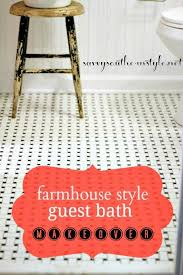 savvy southern style farmhouse style guest bath reveal