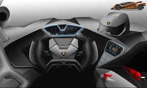 Lamborghini Veneno Interior - very futuristic interior styling inside the lamborghini estampida
