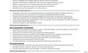 bartender resume templates bartending resume sles restama info