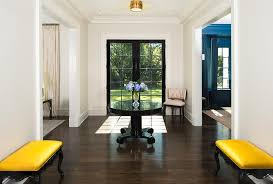 Black Foyer Table Wonderful Yellow And Black Foyer With Pedestal Table Transitional