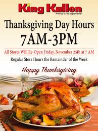 thanksgiving 2016 store hours king kullen