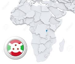 Burundi Map 3d Modeled Map Of Africa With Highlighted State Of Burundi With
