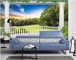 custom photo 3d room wallpaper european garden balcony grassland